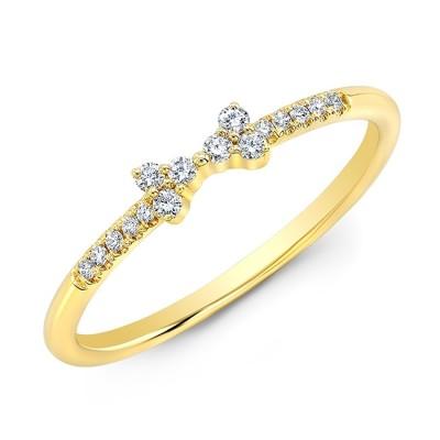 14KT Yellow Gold Diamond Bow Ring