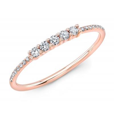 14KT Rose Gold Diamond Stacking Ring