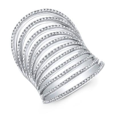 14KT White Gold Diamond Multiband Ring
