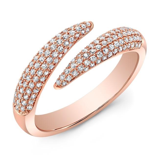 14KT Rose Gold Open Embrace Diamond Ring