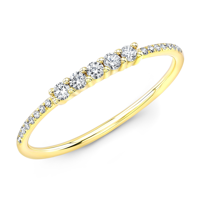 14KT Yellow Gold Diamond Stacking Ring